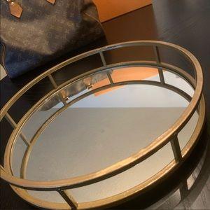 Gold Mirror Tray